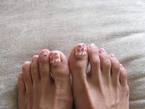 小花柄nail