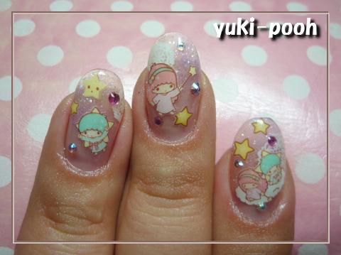 twinkle star★キキ&ララ透明感ラメネイル