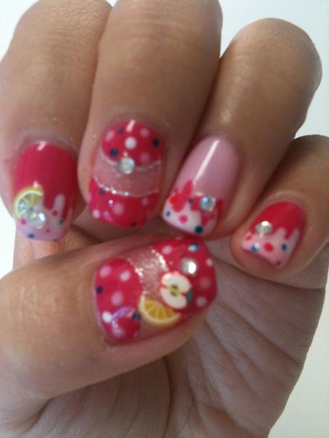 Sweets and polka dots nail ;)