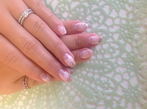 Bubble French  nail