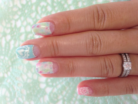 Paisley and tie dye nail