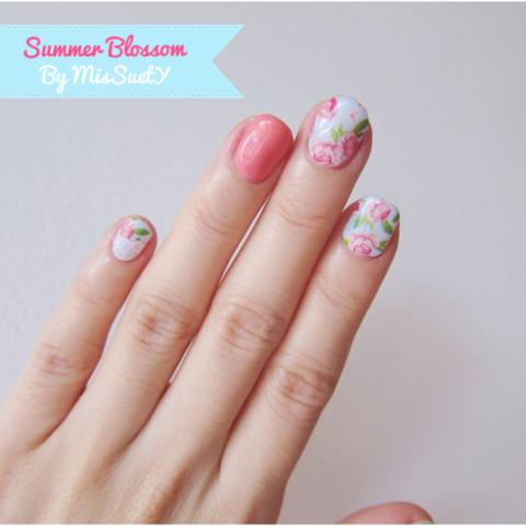 Summer Blossom Nails