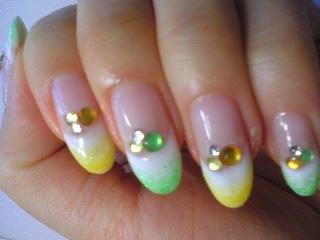 緑×黄 Wフレンチ風