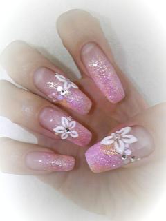 Pink×Yellowネイル